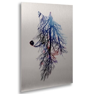 Robert Farkas 'My Roots' Floating Brushed Aluminum Art