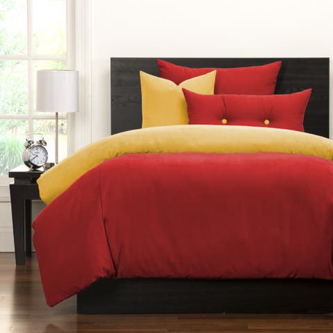 Crayola Scarlet and Laser Lemon Reversible 6-piece Duvet Cover Set