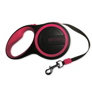 Comfort Grip Black and Red Plastic Retractable Dog Leash