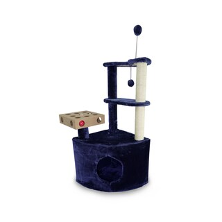 Tiger Tough Home Base Playground Cat Tree Tower Playground (Option: Blue)