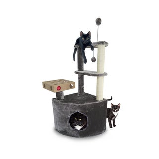 FurHaven Cat Tiger Tough Home Base Playground Cat Tree