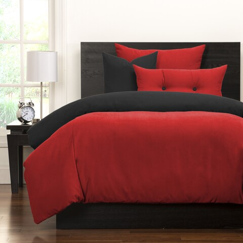 Crayola Scarlet and Black Reversible 6-piece Duvet Cover Set