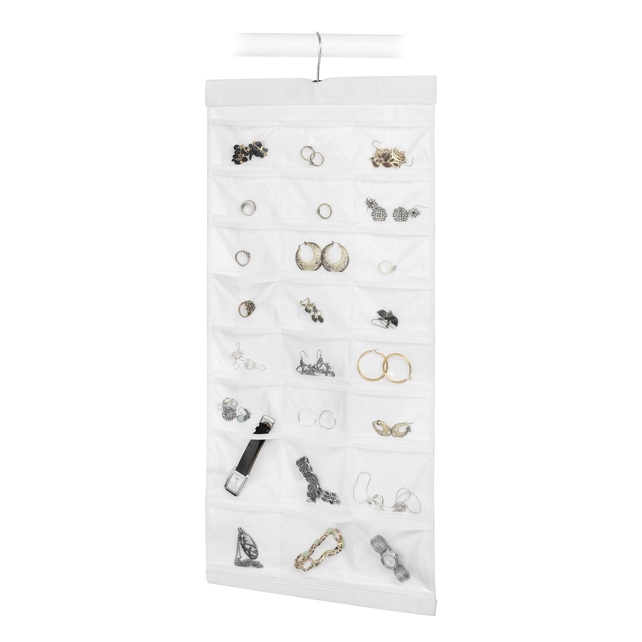 Whitmor Mfg Co White Hanging Jewelry Organizer (Jewelry F...