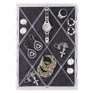 Whitmor 12 Clear Section Diamond Jewelry Tray