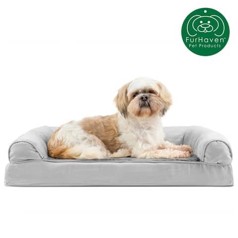 FurHaven Plush & Suede Orthopedic Sofa Dog Bed