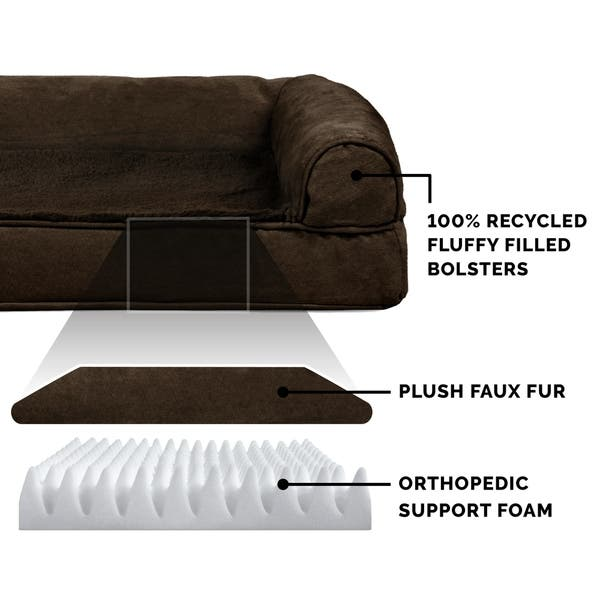 Sensational Shop Furhaven Pet Bed Plush Suede Orthopedic Sofa Dog Evergreenethics Interior Chair Design Evergreenethicsorg