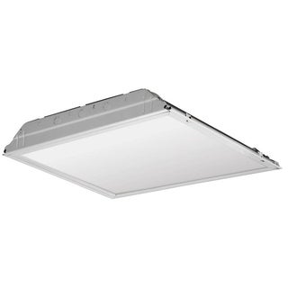 Lithonia Lighting White Metal LED Lay-in Troffer With Prismatic Lens