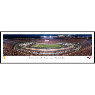 Blakeway Panoramas Battle at Bristol 'Tennessee vs Virginia Tech' Framed Print (4 options available)