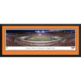 Blakeway Panoramas Battle at Bristol 'Tennessee vs Virginia Tech' Framed Print