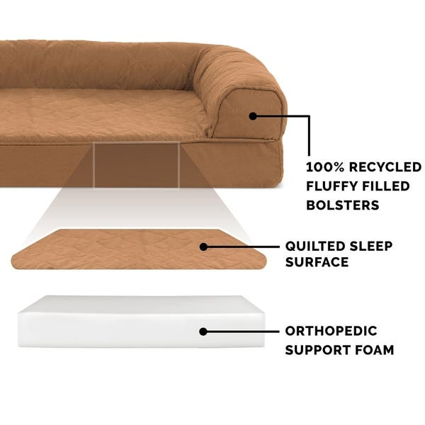 Enjoyable Shop Furhaven Pet Bed Quilted Orthopedic Sofa Dog Bed Gmtry Best Dining Table And Chair Ideas Images Gmtryco