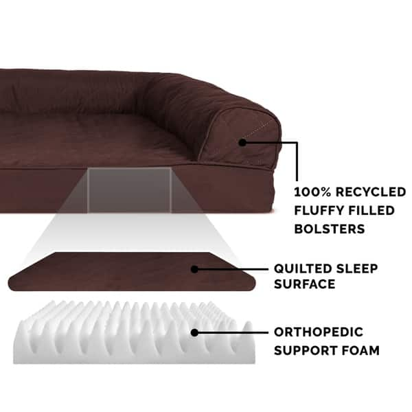 Pleasant Shop Furhaven Pet Bed Quilted Orthopedic Sofa Dog Bed Gmtry Best Dining Table And Chair Ideas Images Gmtryco