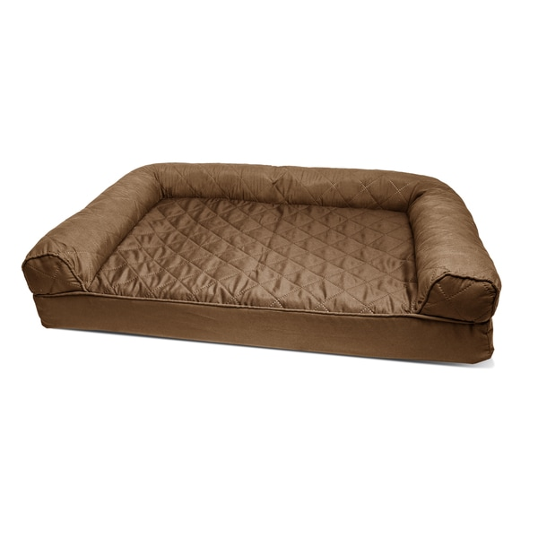 FurHaven Quilted Orthopedic Sofa Style Pet Bed   Free Shipping On Orders  Over $45   Overstock.com   19678141