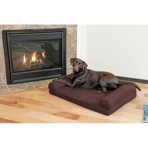 FurHaven Pet Bed Quilted Orthopedic Sofa Dog Bed