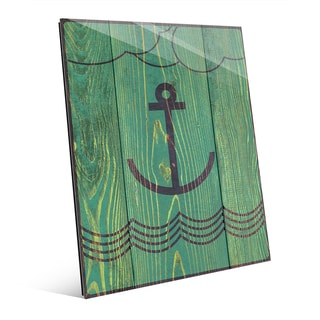 Anchored Green Wall Art on Glass