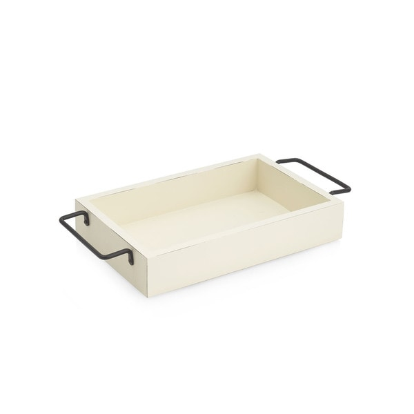 Off-white Iron Shabby Tray