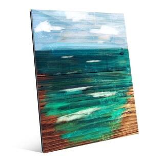 'Painted Ocean' Glass Wall Art