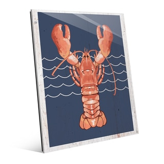 'Lobster Life Coral' Glass Wall Art