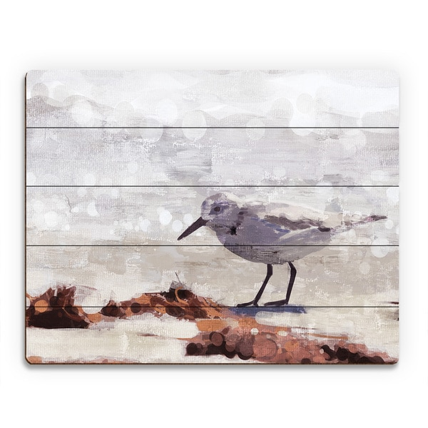 Shop \'Sandpiper Painting\' Wood Wall Art - On Sale - Free Shipping ...
