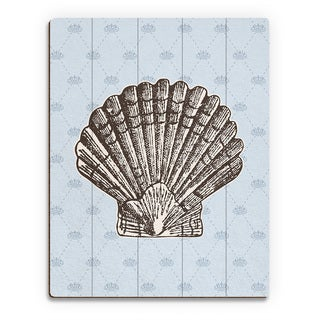 'Vintage Shell' Ocean Wall Art on Wood