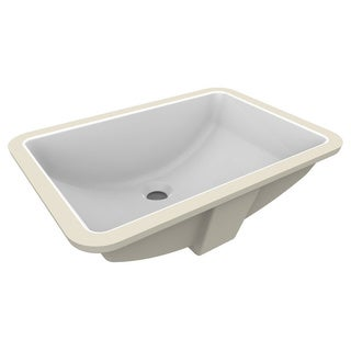 Fusion White Ceramic 21-inch x 14.75-inch Rectangular Undermount Lavatory Sink