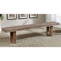 Carbon Loft Venter Country Farmhouse Natural Tone Plank Style Dining Bench