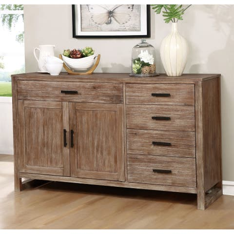 Furniture of America Treville Country Natural Tone Dining Server