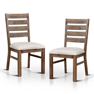 Furniture of America Treville Country Farmhouse Natural Tone Dining Chair (Set of 2)