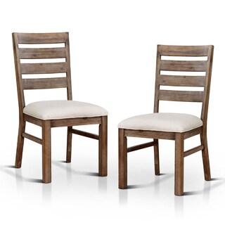 "Carbon Loft Parsons Natural Tone Dining Chair (Set of 2) - 24""W X 19 1/4""D X 38 1/4"""