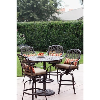 Havenside Home Carmel 5-piece Antique Bronze Aluminum Bar Table Dining Set