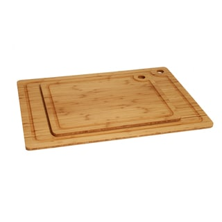 Seville Classics 2-piece Bamboo Cutting Board Set