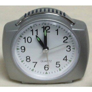 "Equity 27006 4"" Quartz Analog Alarm Clock With Lighted Dial"