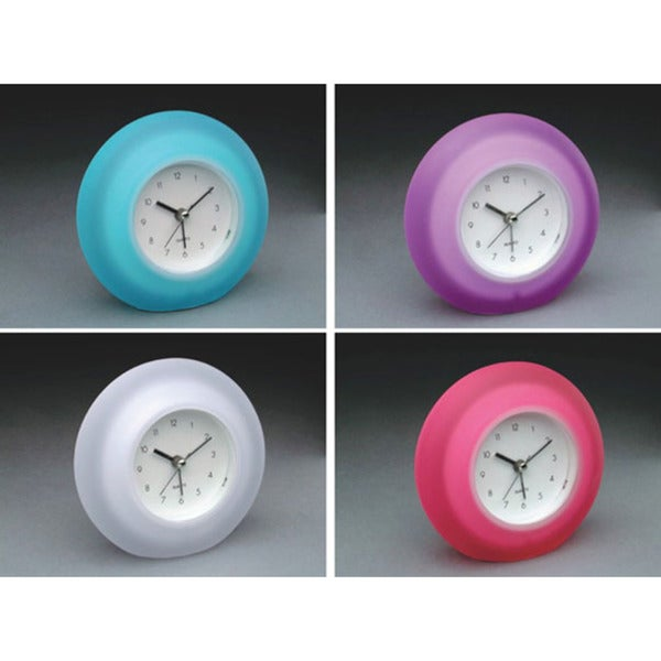"Equity 25300 4.65"" Quartz Frosted Alarm Clock Assorted Colors"