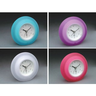 "Equity 25300 4.65"" Quartz Frosted Alarm Clock Assorted Colors"