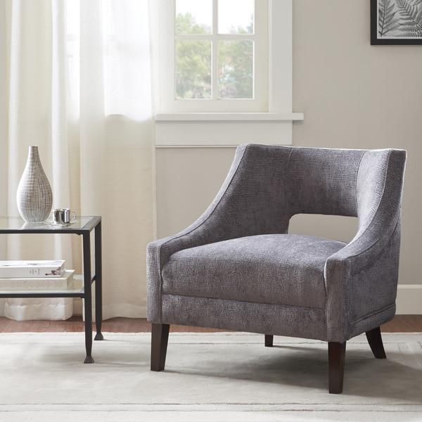 Whitney Mushroom Velvet Accent Chair