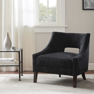 Whitney Black Velvet Accent Chair