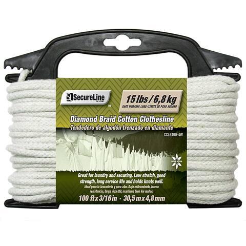 """Lehigh Group CCL6100-4W 3/16"""" X 100' Cotton Clothesline"""
