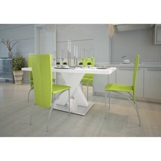 5-piece Dining Set Napoli White MDF