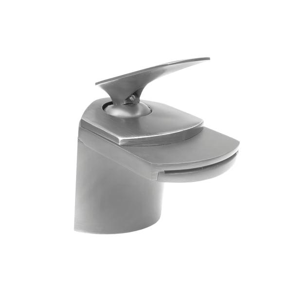 Shop Novatto Wave Brushed Nickel Brass Single Lever Deck Mount