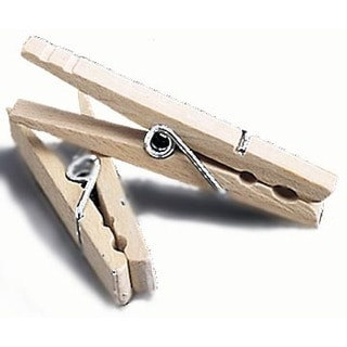 Household Essentials 4700 50 Count Wood Clothespins