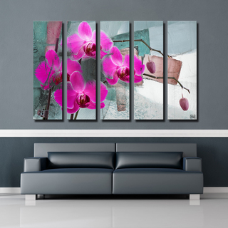 Ready2HangArt 'Painted Petals XIII' 5-PC Canvas Art Set