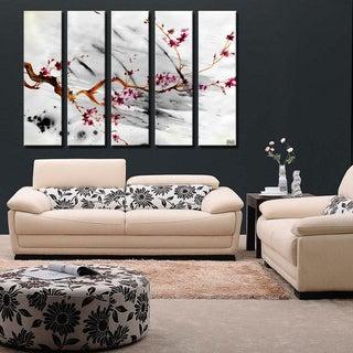 Ready2HangArt 'Painted Petals XII' 5-PC Canvas Art Set
