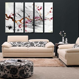 Ready2HangArt 'Painted Petals XII' 5-PC Canvas Art Set