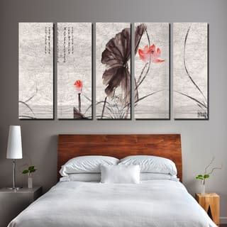 Ready2HangArt 'Painted Petals XI' 5-PC Canvas Wall Art Set