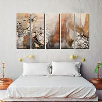 Ready2HangArt 'Painted Petals X' 5-PC Canvas Art Set
