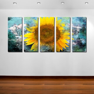 Ready2HangArt 'Painted Petals VIII' 5-PC Canvas Art