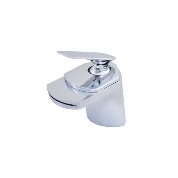 Novatto Wave Chrome-finished Brass Single-lever Deck Mount Waterfall Faucet - Chrome