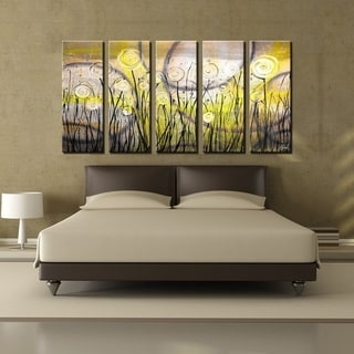 Ready2HangArt 'Painted Petals I' 5-PC Canvas Art Set