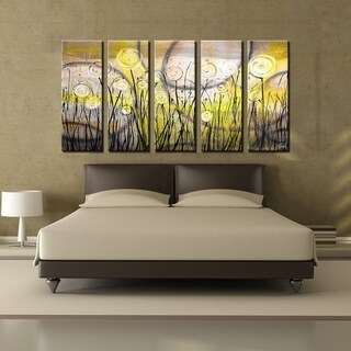 Ready2HangArt 'Painted Petals VI' 5-PC Canvas Art Set