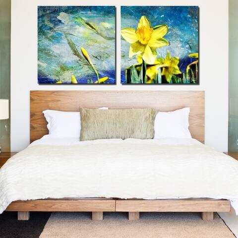 Ready2HangArt 'Painted Petals VII' 2-Piece Canvas Wall Art Set