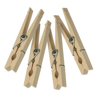 Honey Can Do DRY-01376 Wood Clothespins With Spring 100 Count